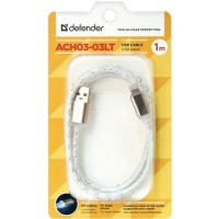 "Кабель Defender Apple 8-pin 87550 LED 1m ""Gray"""
