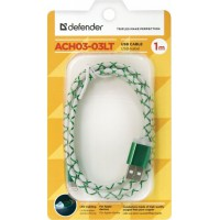 "Кабель Defender Apple 8-pin 87553 LED 1m ""Green"""